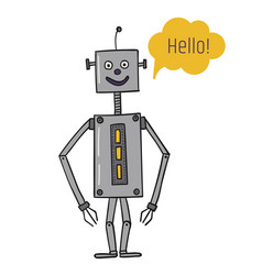 Robot is rectangular a square bot says vector