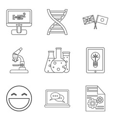 Scholarship icons set outline style vector