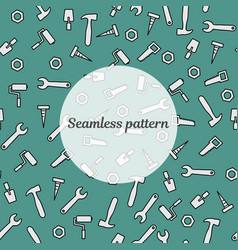 Seamless pattern blue color with tools for repair vector