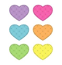 Set of hearts vector image