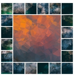 Set polygonal backgrounds vector