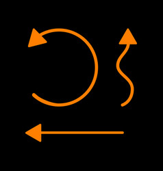 simple set to interface arrows orange icon on vector image
