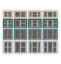 Single hung non bar composite window set in vector