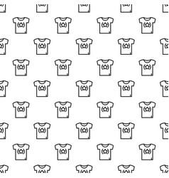 star tshirt pattern seamless vector image