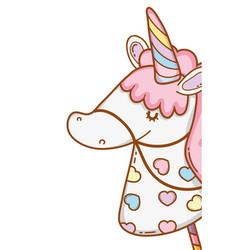 Stick unicorn toy cartoon vector