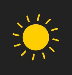 sun icon sun with ray symbol vector image