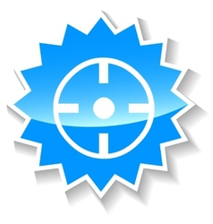 Target blue icon vector