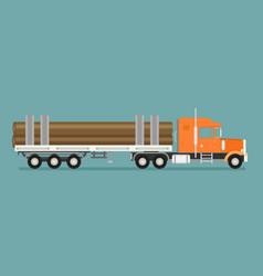 Timber wood truck vector