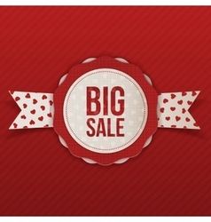 Valentines Day Big Sale Emblem with Text vector