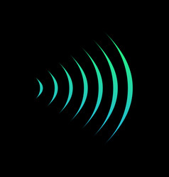 wifi sound signal connection sound radio wave vector image