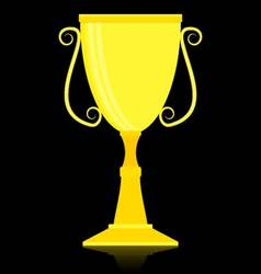 Gold trophy cup vector image vector image