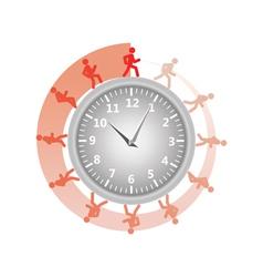 man running around clock vector image