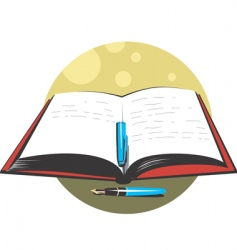 pen and book vector image vector image