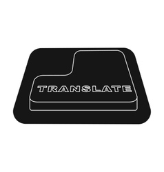 Translate button icon in black style isolated on vector image