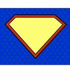 Super hero shield in pop art style vector image