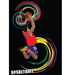 basketball silhouettes vector image vector image