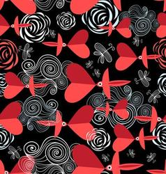 bright festive pattern to the day of Valentine vector image