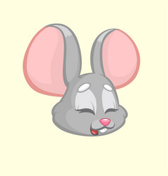 cartoon funny mouse vector image