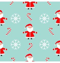 Christmas snowflake candy cane santa claus wearing vector
