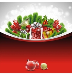 christmas theme with gift boxes vector image