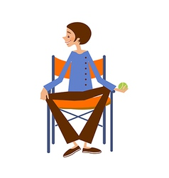 Close-up of man sitting vector image vector image