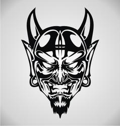 Devil Face Tribal vector image
