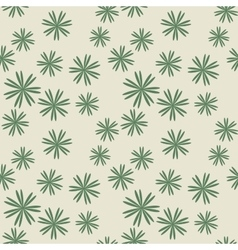 Flower pastel green seamless pattern vector image vector image