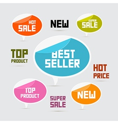 Labels Tags Stickers Best Seller New Super Sale vector image vector image