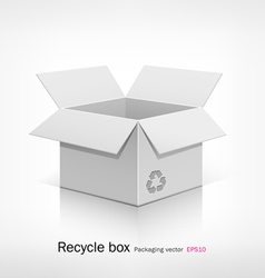Recyele white box vector image vector image