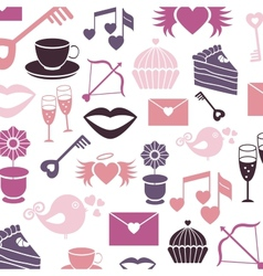 Set valentines day pattern signs vector image