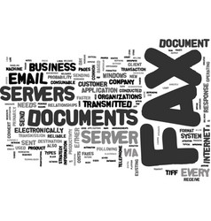 why every company needs a fax server text word vector image vector image