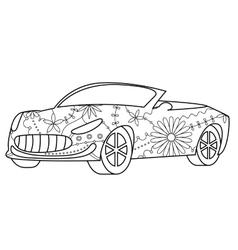 Car cabriolet coloring vector image vector image