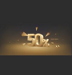 50 percent off discount sale vector image