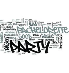 A bachelorette party text word cloud concept vector