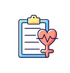 Access to healthcare rgb color icon vector