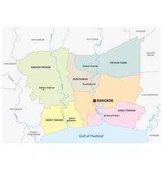 Administrative map bangkok metropolitan area vector