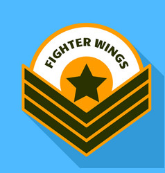 Air fighter wings logo flat style vector