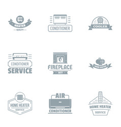 ambiance logo set simple style vector image