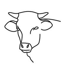 animal cow icon design clip art line icon vector image