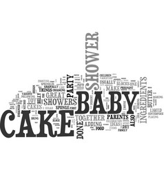 baby shower cake ideas text word cloud concept vector image