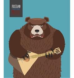 Bear was playing the balalaika russian national vector