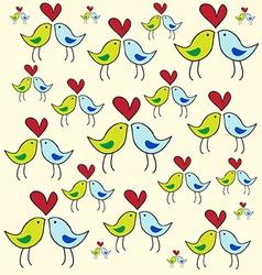 Bird in love vector