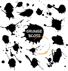 Blots set Grunge texture vector image