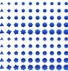 Blue deformed polygon shape collection vector