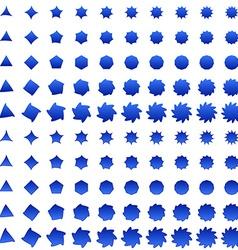 Blue deformed polygon shape collection vector