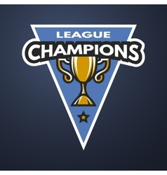 Champion sports league logo emblem vector