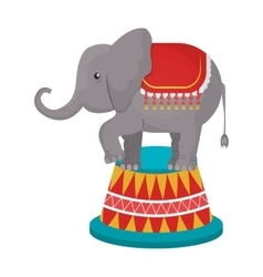Circus elephant animal cartoon design vector