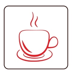 Coffee cup icon red vector