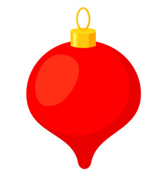 colorful cartoon christmas tree decoration vector image