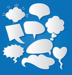 Comic bubble speech balloons speech cartoon 218 vector